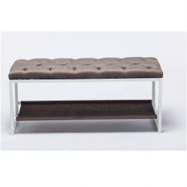 Designová lavice, Vikar 0000208815 Tempo Kondela Biela / sivá