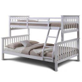 Patrová rozložitelná postel, bílá, BAGIRA 0000207781 Tempo Kondela