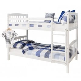 Patrová rozložitelná postel, bílá, RAVELO 0000207779 Tempo Kondela