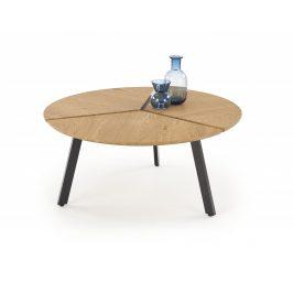 Konferenčný stolík LUANA dub zlatý / čierna Halmar