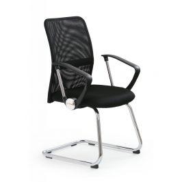 Konferenčná stolička VIRE SKID čierna Halmar