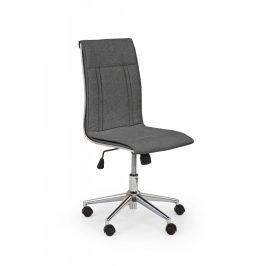 Kancelárska stolička PORTO 3 látka tmavosivá Halmar