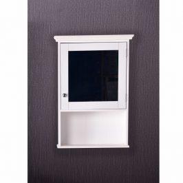 Závěsná skříňka se zrcadlem bílá, ATENE TYP 2 0000228293 Tempo Kondela