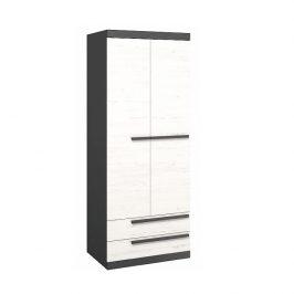 Věšáková skříň, sosna andersen / šedá grafit, BEVERLY 0000239399 Tempo Kondela