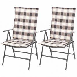 Polohovateľné záhradné stoličky 2 ks antracit