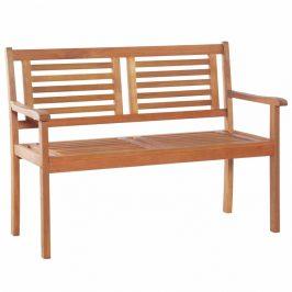 Záhradná lavička s operadlom 120 cm z eukalyptového dreva