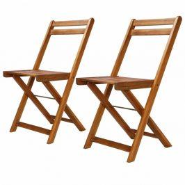 Záhradné bistro stoličky 2 ks hnedá