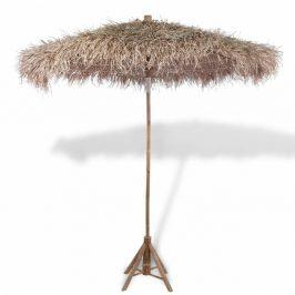 Bambusový slnečník so strechou z banánových listov Ø 270 cm