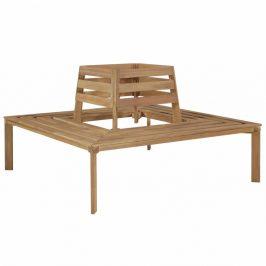 Štvorcová lavička okolo stromu z akáciového dreva
