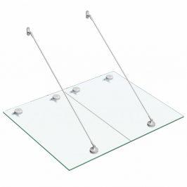 Vchodová strieška bezpečnostné sklo VSG / nerezová oceľ Dekorhome 120x90 cm