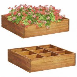 Záhradný kvetináč na bylinky z akáciového dreva
