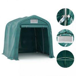 Plachtová garáž 1,6 x 2,4 m zelená Dekorhome