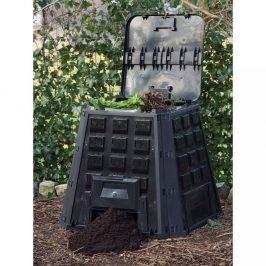 Záhradný kompostér 400l čierny Dekorhome