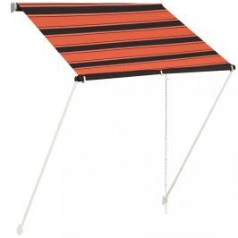 Zaťahovací markíza 150x150 cm oranžová / hnedá Dekorhome