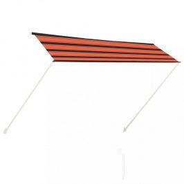 Zaťahovací markíza 300x150 cm oranžová / hnedá Dekorhome