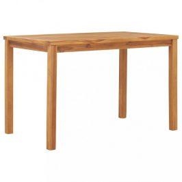 Záhradný jedálenský stôl 120 x 70 cm teakové drevo Dekorhome