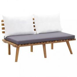 Záhradná lavica s vankúšikmi 115 cm akáciové drevo Dekorhome