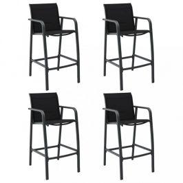 Záhradné barové stoličky 4 ks textilen Dekorhome Sivá