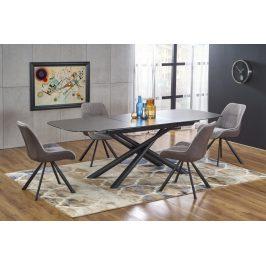 Rozkladací jedálenský stôl CAPELLO 180/240 cm sivá / čierna Halmar