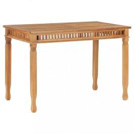 Záhradný jedálenský stôl 120 x 65 cm teakové drevo Dekorhome