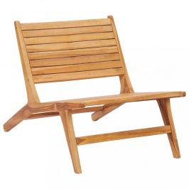 Záhradná stolička teakové drevo Dekorhome