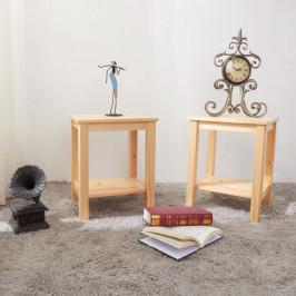 Noční stolek, dřevo / přírodní, FOSIL 0000213719 Tempo Kondela