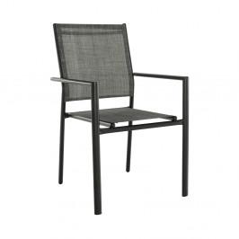 Záhradná stolička TELMA čierna / sivá Tempo Kondela