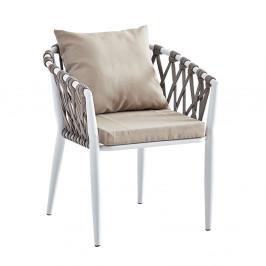 Záhradná stolička SIRMA sivohnedá / biela Tempo Kondela