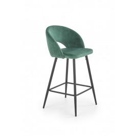 Barová stolička H-96 Halmar Tmavo zelená