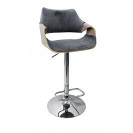 Barová stolička H-98 dub svetlý / sivá Halmar
