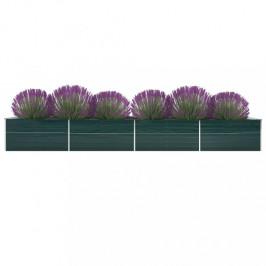 Záhradný kvetináč 600x80x45 cm pozinkovaná oceľ Dekorhome Zelená