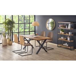 Jedálenský stôl XAVIER rozkladací 160/250 dub svetlý / čierna Halmar