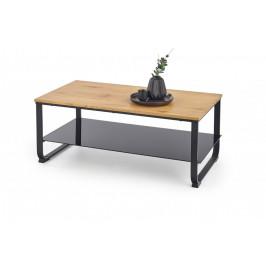 Konferenčný stôl ARTIGA dub zlatý / čierna Halmar