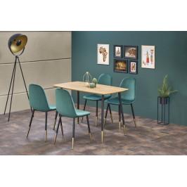 Jedálenský stôl TRIPOLIS čierna / zlatá Halmar