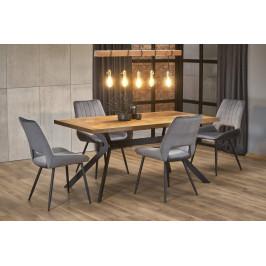 Jedálenský stôl TYSON orech / čierna Halmar