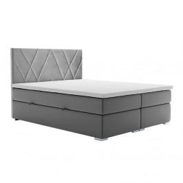 Boxspringová posteľ ORA sivá Tempo Kondela 160 x 200 cm