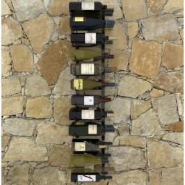 Nástenný stojan na víno na 36 fliaš čierna Dekorhome