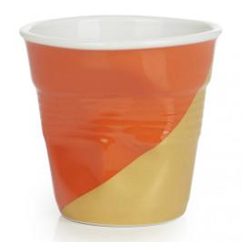 REVOL Téglik na espresso 8 cl Twist Orange Up Froissés