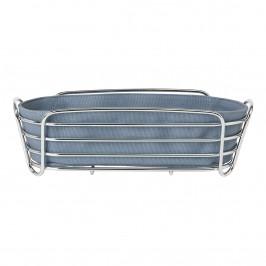 Blomus Košík na pečivo DELARA modrosivý oválny