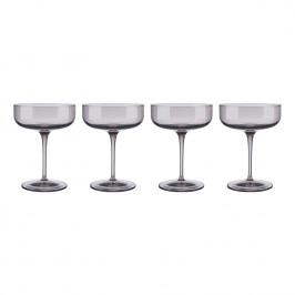 Blomus Súprava 4 club pohárovna šampanské FUUM hnedé sklo