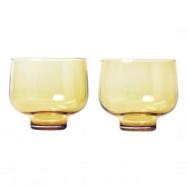 Blomus Súprava 2 pohárov FLOW matná zlatá 0,22 l