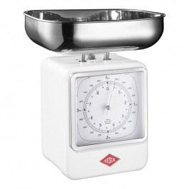 Wesco Kuchynská váha s hodinami biela