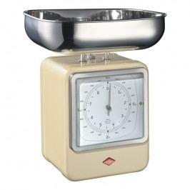 Wesco Kuchynská váha s hodinami mandľová