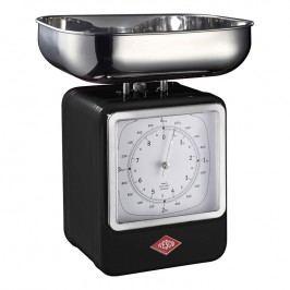 Wesco Kuchynská váha s hodinami čierna