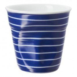 REVOL Téglik na espresso 8 cl modrá s bielymi pruhmi Froissés