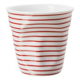REVOL Téglik na espresso 8 cl biela s červenými pruhmi Froissés