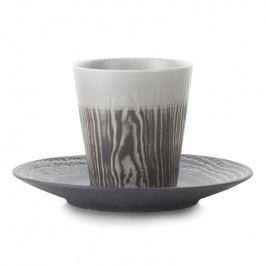 REVOL Hrnček na kávu 18 cl s podšálkou farba korenia Arborescence