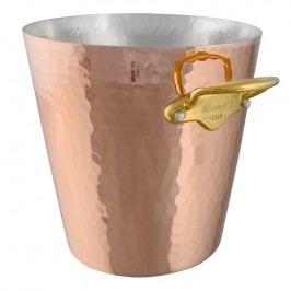 MAUVIEL Medená tepaná chladiaca nádoba na sekt s bronzovými uchami Ø 20 cm