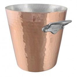 MAUVIEL Medená tepaná chladiaca nádoba na sekt s uchami z nehrdzavejúcej ocele Ø 20 cm