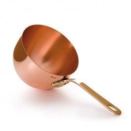 MAUVIEL Medená miska na zabaglione s bronzovou rukoväťou Ø 20 cm